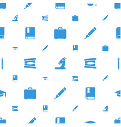 School icons pattern seamless white background vector