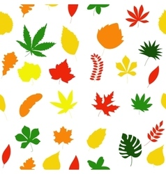 Seamless floral pattern autumn leaves texture vector image