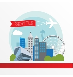 Seattle detailed silhouette vector