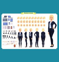 set businesswoman character design vector image