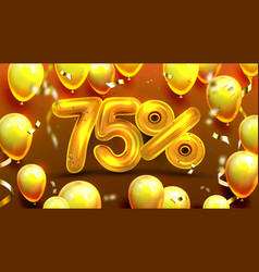 seventy five percent or 75 special offer vector image