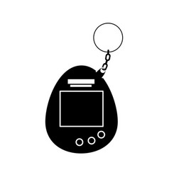 Silhouette video game mascot nineties style vector