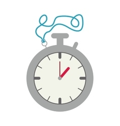 Silver Stopwatch Graphic with blue cord vector