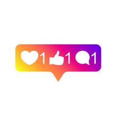 Social media instagram modern like 1 follower 1 vector