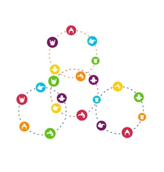 Social network circles vector