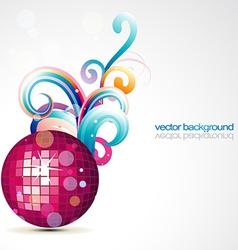 stylish disco ball design vector image