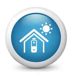 Temperature Control glossy icon vector image