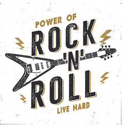 Vintage hand drawn rock n roll poster rock music vector