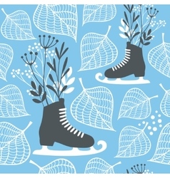 Winter seamless pattern vector image