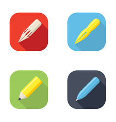 writing tools icon vector image