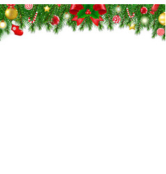 xmas firtree borders vector image