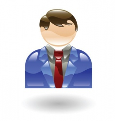 businessman illustration vector image vector image