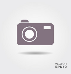 Camera icon in flat style vector