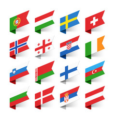 flags of the world europe set 2 vector image vector image