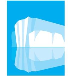 glacier vector image vector image