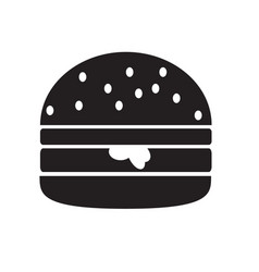 hamburger icon isolated on white background vector image