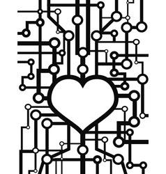 heart circuit vector image