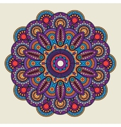 Indian doodle boho hippie mandala vector image