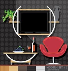 Modern style interior set flat style Digital image vector image