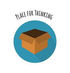 Think Outside the Box Concept Empty Box in FLat vector image vector image