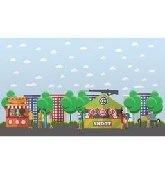 amusement park concept vector image vector image