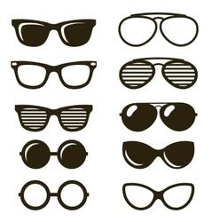 Black sunglasses set vector