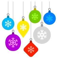 Christmas Background with Flat Balls and vector image