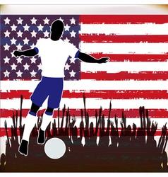 Football USA vector image vector image