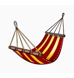 Painted hammock vector
