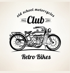 retro motorbike emblems and labels template vector image vector image