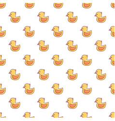 Rubber duck toy pattern seamless vector
