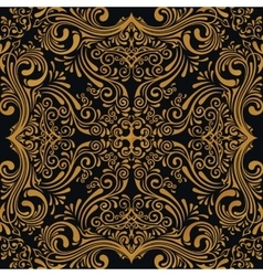 seamless gold pattern with art ornament vector image vector image