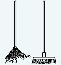 Set Mop vector image