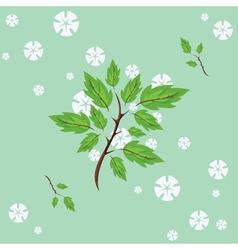 spring flowering vector image