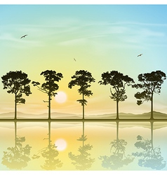 A Line of Trees vector image