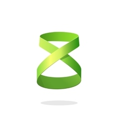 Abstract green loop ribbon logo element design dea vector image vector image