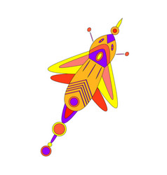 Fantastic bright multicolored beautiful butterfly vector