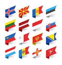 flags of the world europe set 3 vector image