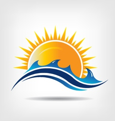 Sea and sun season vector image