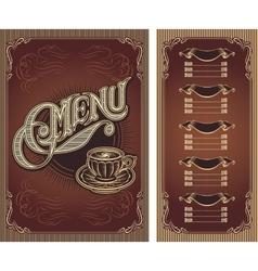 Template menu for hot tea coffee restaurant vector image vector image