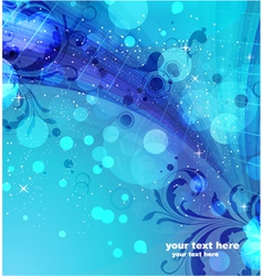 abstract background with floral vector image vector image