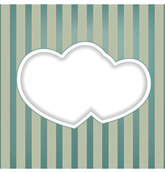 hearts retro background vector image vector image