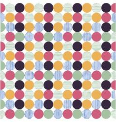 polka dot fabric wallpaper vector image vector image