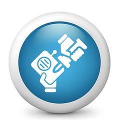 Radio Repair glossy icon vector image