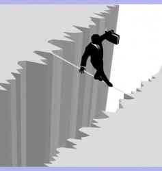 tightrope vector image vector image