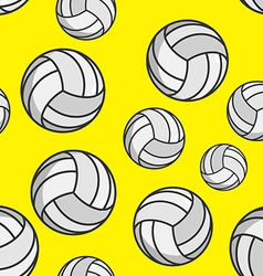 Volleyball seamless pattern Sports accessory vector image vector image