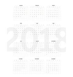 2018 year calendar template flat design template vector