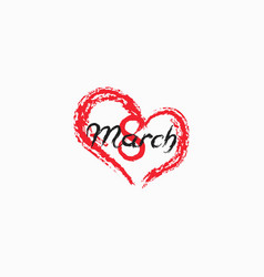 8 march russian holiday inscription to greeting vector image
