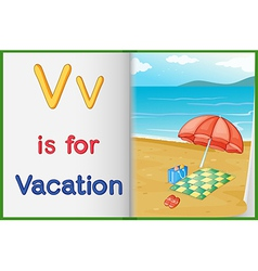 A picture of vacation in book vector