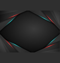 abstract metallic black on red and blue frame vector image
